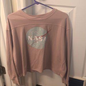 cropped NASA long sleeve